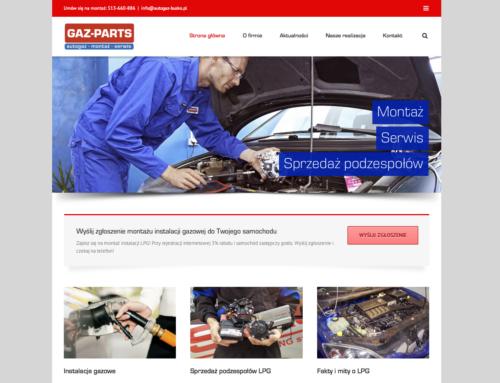 Strona internetowa Gaz-Parts