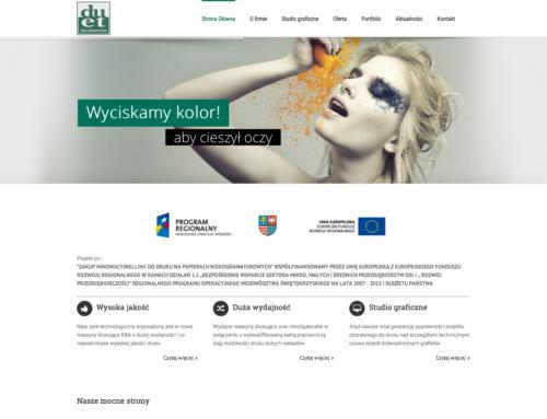 Strona internetowa Drukarnia DUET