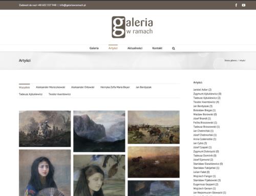 Strona internetowa – Galeria