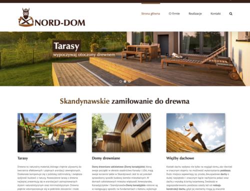 Strona internetowa NORD-DOM